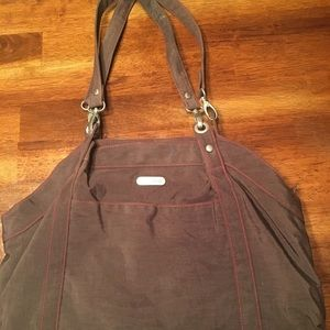 Baggallini nylon brown double strap tote